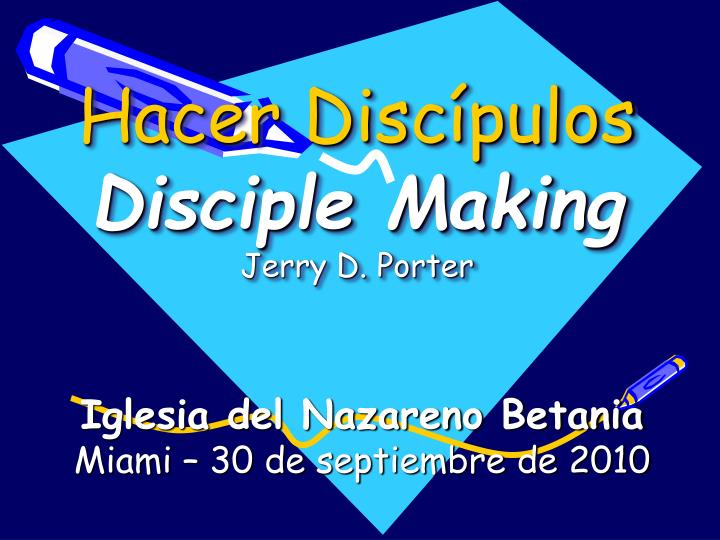Hacer disc pulos disciple making jerry d porter