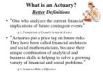 what is an actuary better definitions