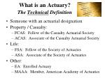 what is an actuary the technical definition
