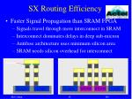 sx routing efficiency