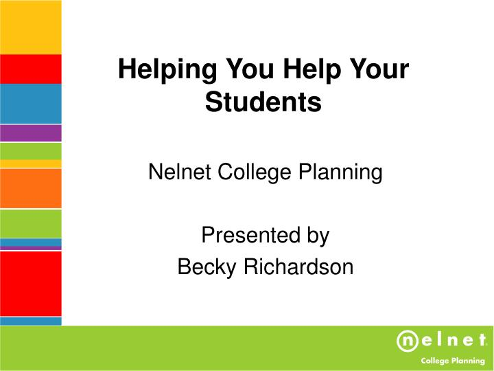 helping you help your students n.