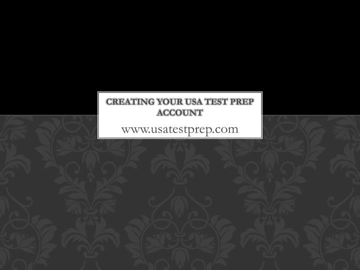 creating your usa test prep account n.