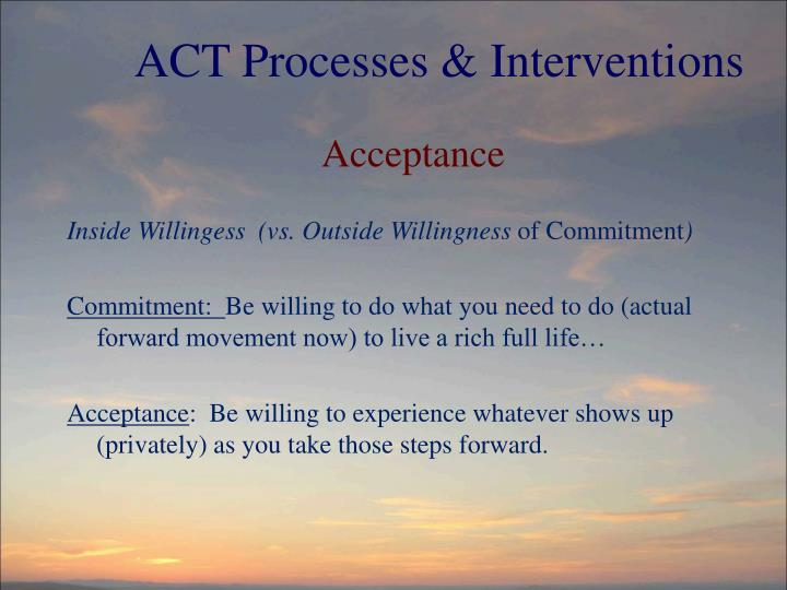 ACT Processes & Interventions