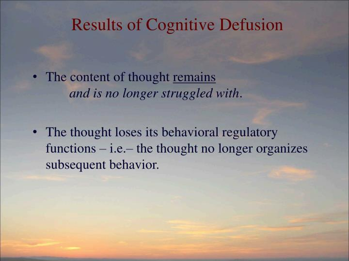 Results of Cognitive