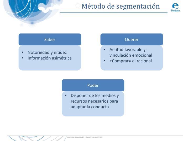 Método de segmentación