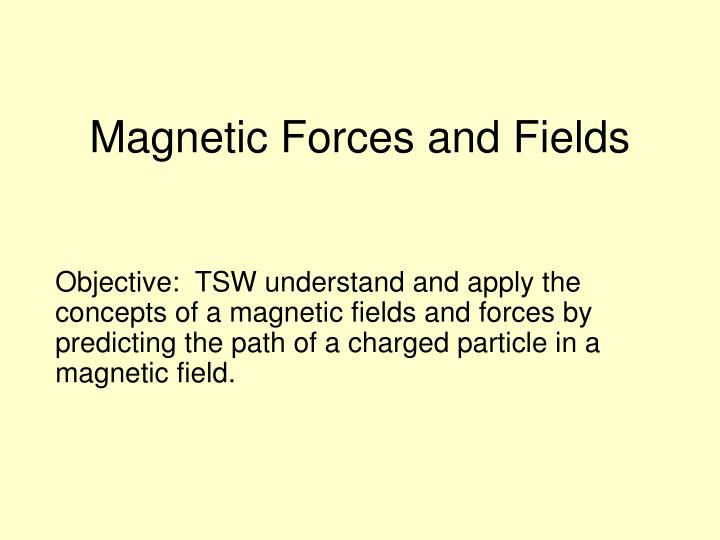 magnetic forces and fields n.