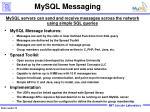 mysql messaging