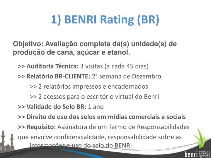 1) BENRI Rating (