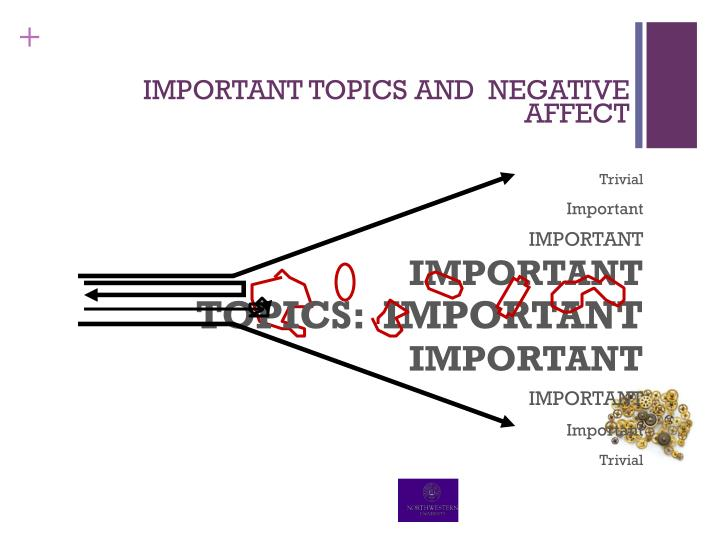 IMPORTANT TOPICS AND  NEGATIVE AFFECT