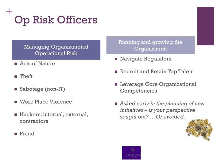 Op Risk Officers