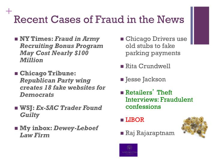 Recent Cases of Fraud in the News