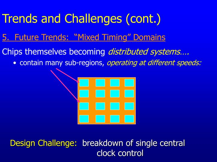 Trends and Challenges (cont.)