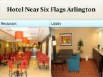 hotel near six flags arlington