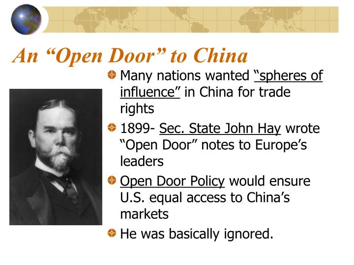 open door policy john hay an open door to china ppt unit 4 the age of imperialism 18901917 in east