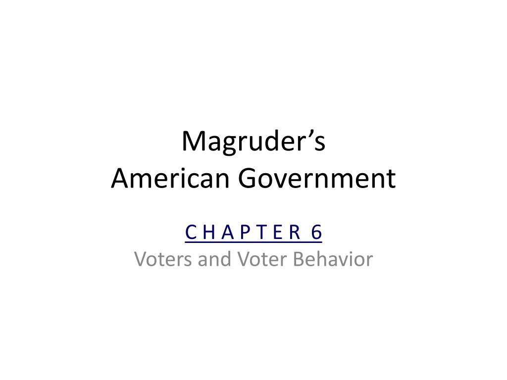 PPT - Magruder's American Government PowerPoint Presentation ...