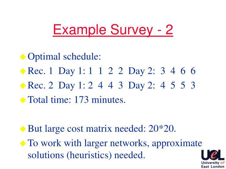 Example Survey - 2