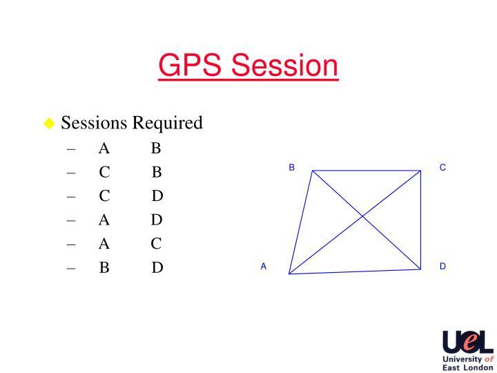 GPS Session