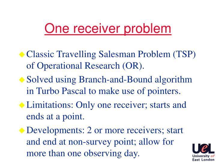 One receiver problem