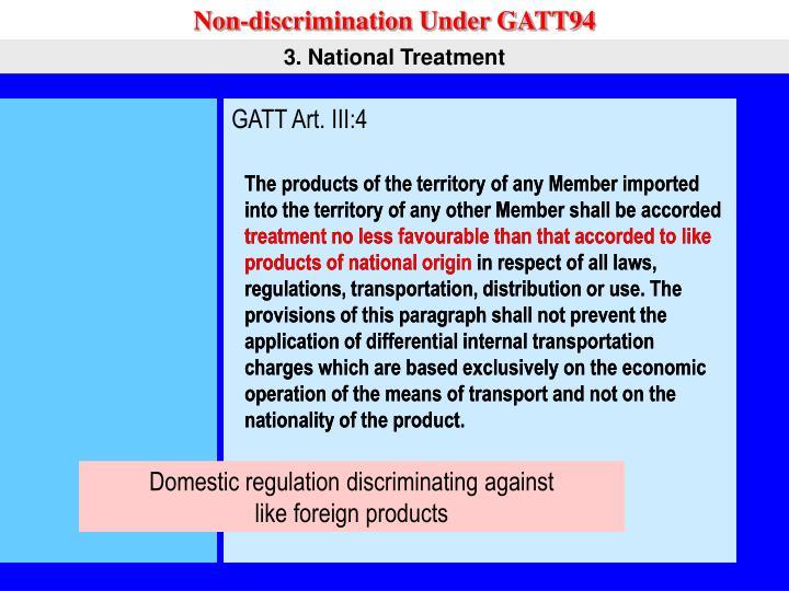 Non-discrimination Under GATT94