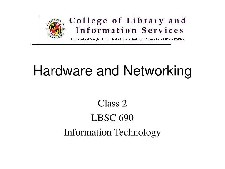 hardware and networking n.