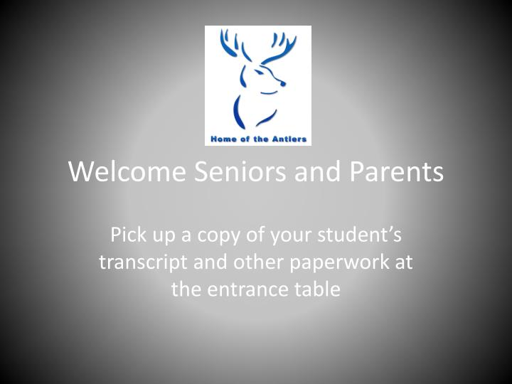 welcome seniors and parents n.