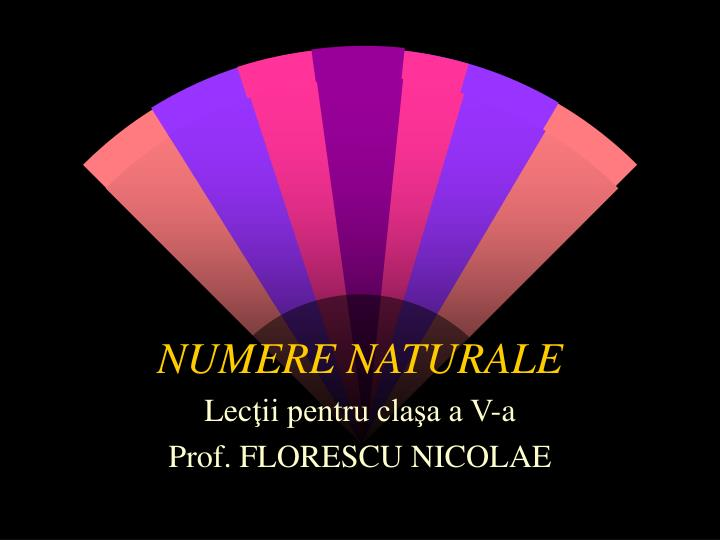 numere naturale n.