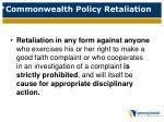 commonwealth policy retaliation1