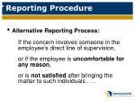 reporting procedure2