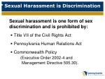 sexual harassment is discrimination