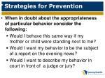 strategies for prevention1