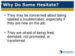 why do some hesitate5