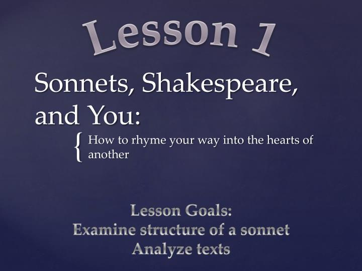 sonnets shakespeare and you n.