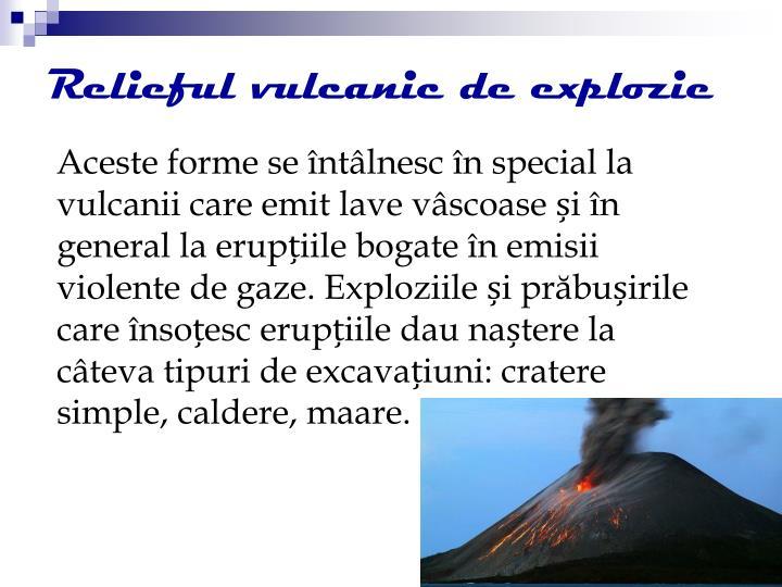 Relieful vulcanic de explozie