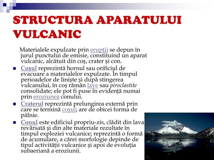 Structura aparatului vulcanic
