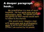 a deeper paragraph hook
