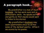 a paragraph hook