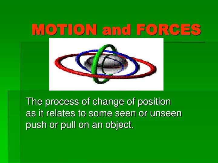motion and forces n.