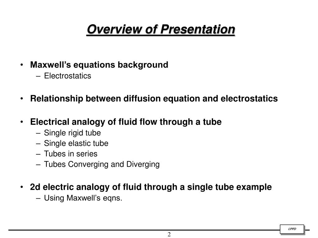 PPT - Maxwell's Equations in Vasculature Modeling PowerPoint