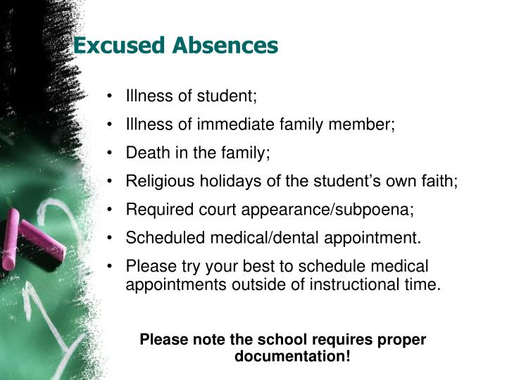 Excused Absences