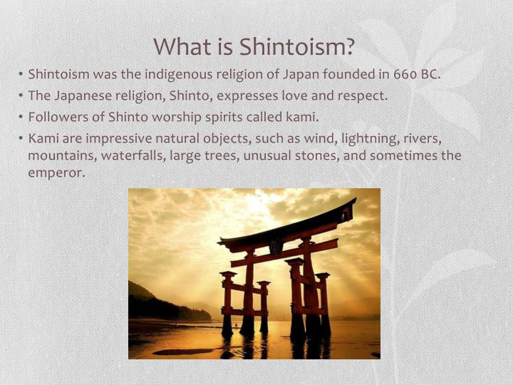 What is shintoism