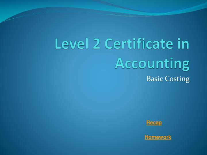 level 2 certificate in accounting n.
