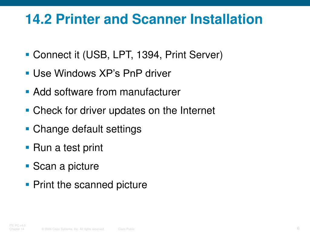 PPT - Chapter 14: Advanced Printers and Scanners PowerPoint