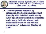 advanced display systems inc v kent state univ 212 f 3d 1272 54 uspq2d 1673 fed cir 2000