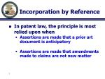 incorporation by reference1