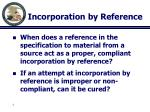 incorporation by reference2