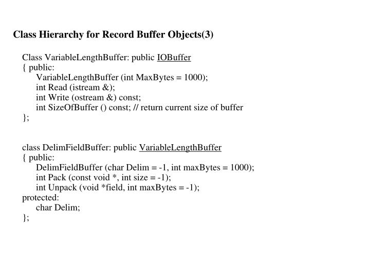 Class Hierarchy for Record Buffer Objects(3)