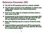 reference parameter rp