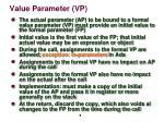value parameter vp