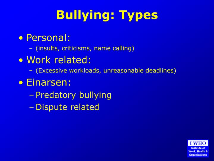 Bullying types