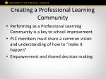 creating a professional learning community